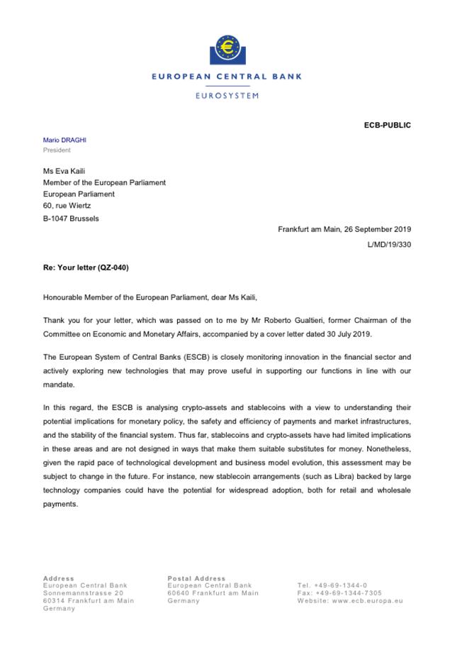 Banco Central Europeo Mario Draghi