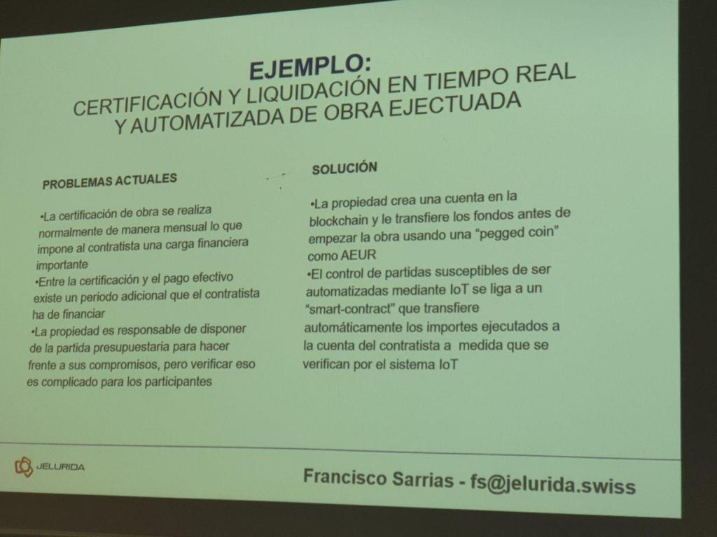 certificación contrato inteligente IOT Barcelona