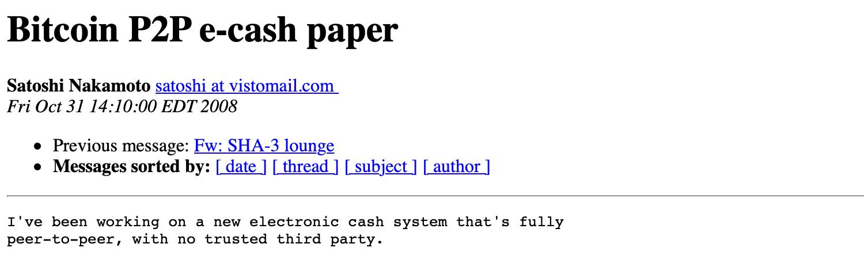 """El poderoso Libro Blanco de Bitcoin de Satoshi Nakamoto cumple 11"""" ancho = """"1500"""" altura = """"450"""" srcset = """"https: //news.bitcoin .com / wp-content / uploads / 2019/10 / hallowmsg.jpg 1500w, https://news.bitcoin.com/wp-content/uploads/2019/10/hallowmsg-300x90.jpg 300w, https: // noticias .bitcoin.com / wp-content / uploads / 2019/10 / hallowmsg-768x230.jpg 768w, https://news.bitcoin.com/wp-content/uploads/2019/10/hallowmsg-1024x307.jpg 1024w, https : //news.bitcoin.com/wp-content/uploads/2019/10/hallowmsg-696x209.jpg 696w, https://news.bitcoin.com/wp-content/uploads/2019/10/hallowmsg-1392x418. jpg 1392w, https://news.bitcoin.com/wp-content/uploads/2019/10/hallowmsg-1068x320.jpg 1068w, https: //news.b itcoin.com/wp-content/uploads/2019/10/hallowmsg-1400x420.jpg 1400w """"tamaños ="""" (ancho máximo: 1500px) 100vw, 1500px"""