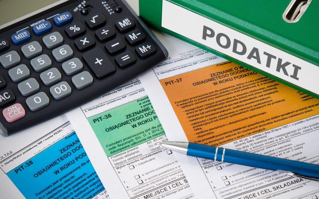 Formulario de impuestos para informar los ingresos del comercio de criptomonedas emitido en Polonia