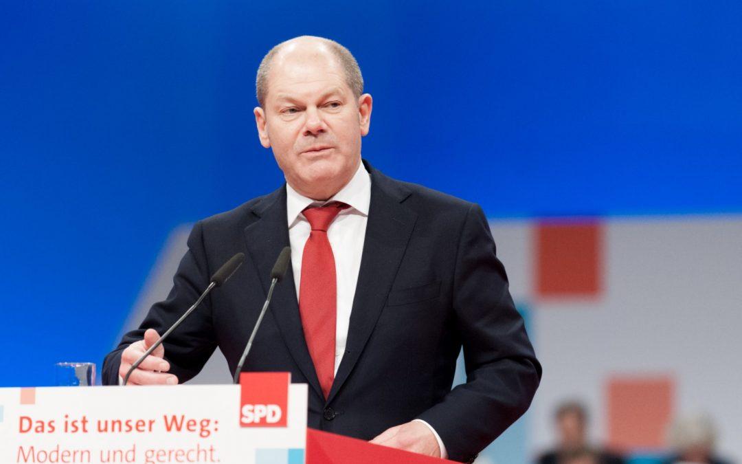 El ministro de finanzas alemán, Olaf Scholz, quiere introducir el euro digital