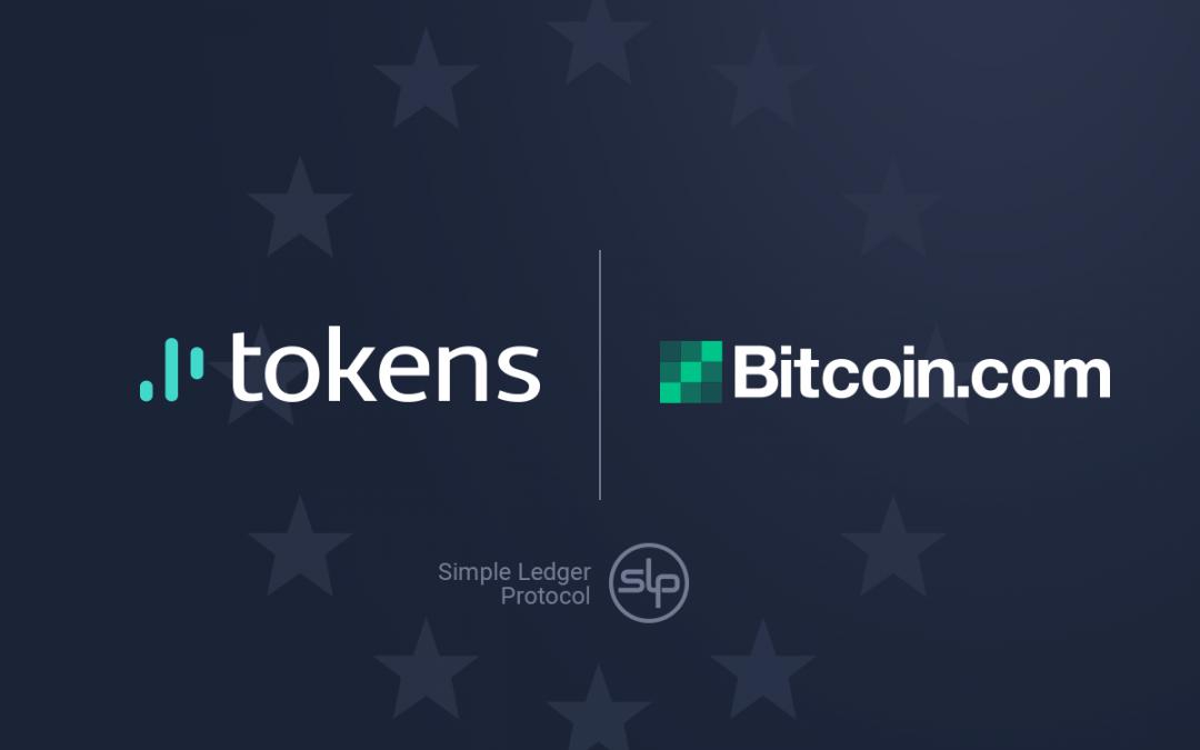 Tokens.net se asocia con Bitcoin.com como socio oficial de SLP