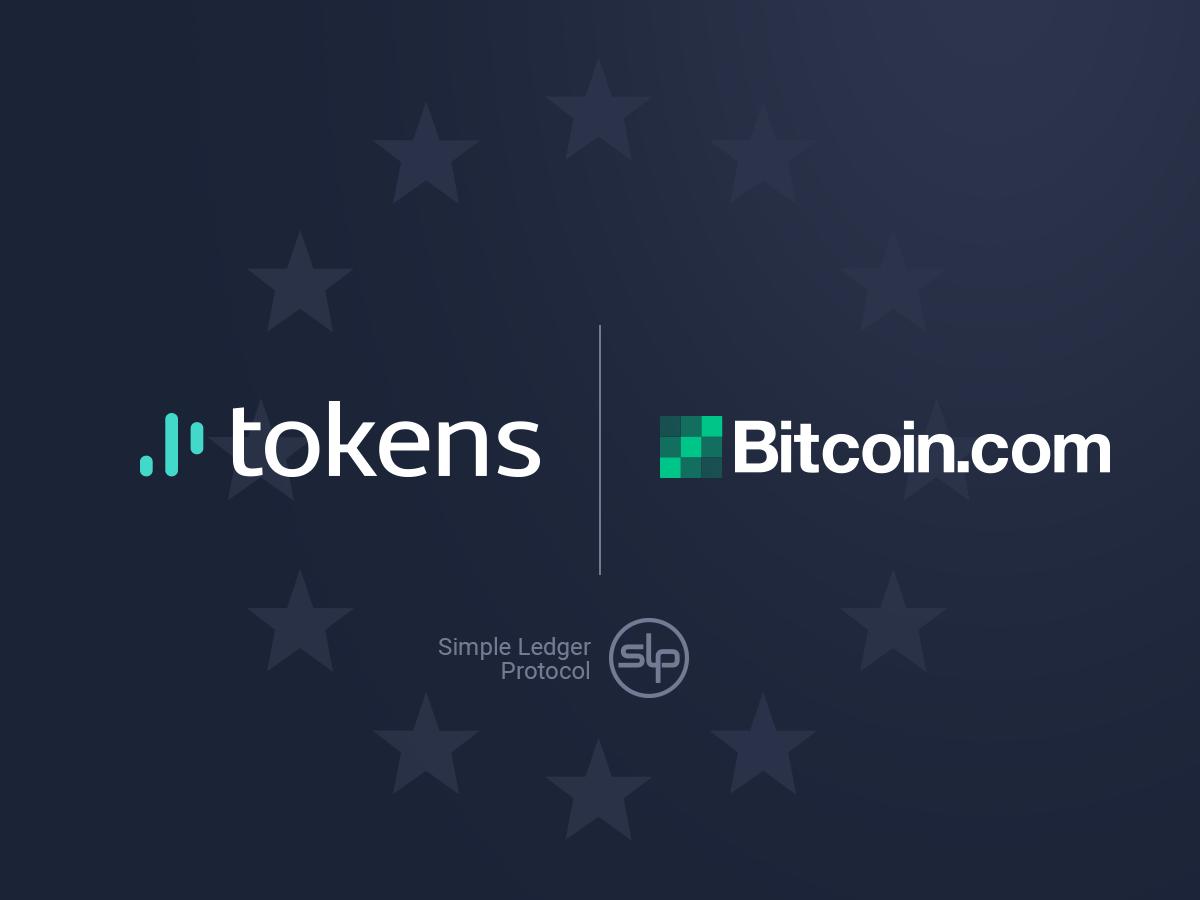 Tokens.net sella la asociación con Bitcoin.com como socio oficial de SLP