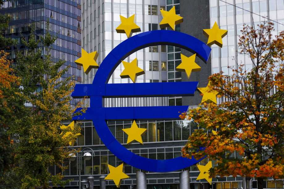El logotipo del BCE en Frankfurt, Alemania. Foto: Bloomberg Foto de Alex Kraus. / © 2019 Bloomberg Finance LP