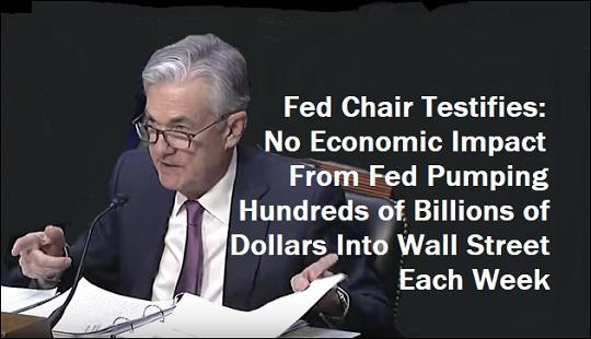 El presidente de la Fed, Jerome Powell, testifica ante el Comité Económico Conjunto del Congreso, 13 de noviembre de 2019