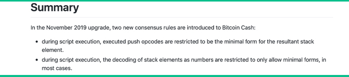 "Qué esperar de la próxima actualización del protocolo de efectivo de Bitcoin ""width ="" 680 ""height = ""150"" srcset = ""https://blackswanfinances.com/wp-content/uploads/2019/11/minrule22.jpg 680w, https://news.bitcoin.com/wp-content/uploads/2019/11 /minrule22-300x66.jpg 300w ""tamaños ="" (ancho máximo: 680px) 100vw, 680px"