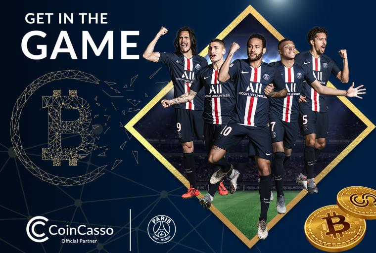 Paris Saint-Germain se asocia con la plataforma de intercambio de criptomonedas CoinCasso