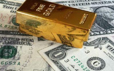 Dólar estadounidense y oro en tándem