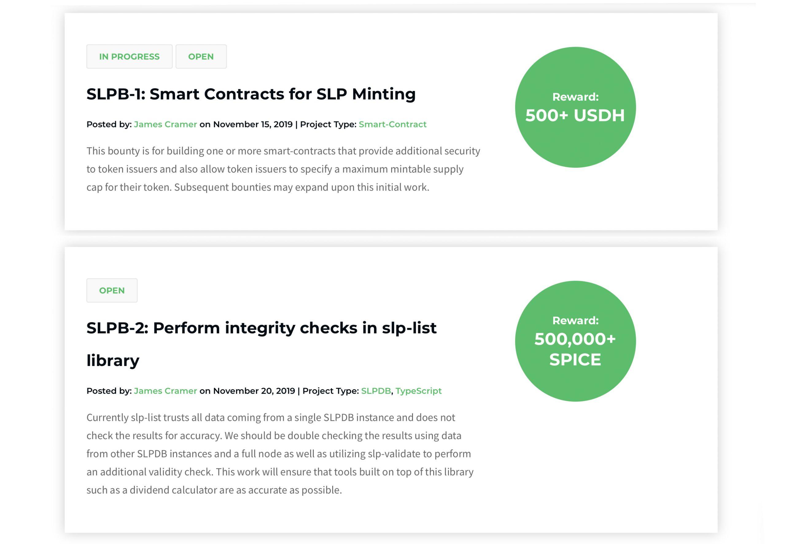 "Los desarrolladores de SLP publican recompensas de código con $ 2,500 + en Crypto Rewards ""width ="" 2560 ""height ="" 1772 "" srcset = ""https://blackswanfinances.com/wp-content/uploads/2020/01/bount6e66e66e6e-scaled.jpg 2560w, https://news.bitcoin.com/wp-content/uploads/2020/01/ bount6e66e66e6e-300x208.jpg 300w, https://news.bitcoin.com/wp-content/uploads/2020/01/bount6e66e66e6e-1024x709.jpg 1024w, https://news.bitcoin.com/wp-content/uploads/ 2020/01 / bount6e66e66e6e-768x532.jpg 768w, https://news.bitcoin.com/wp-content/uploads/2020/01/bount6e66e66e6e-1536x1063.jpg 1536w, https://news.bitcoin.com/wp- content / uploads / 2020/01 / bount6e66e66e6e-2048x1418.jpg 2048w, https://news.bitcoin.com/wp-content/uploads/2020/01/bount6e66e66e6e-100x70.jpg 100w, https: //news.bitcoin. com / wp-content / uploads / 2020/01 / bount6e66e66e6e-218x150.jpg 218w, https://news.bitcoin.com/wp-content/uploads/2020/01/bount6e66e66e6e-696x482 .jpg 696w, https://news.bitcoin.com/wp-content/uploads/2020/01/bount6e66e66e6e-1392x964.jpg 1392w, https://news.bitcoin.com/wp-content/uploads/2020/01 /bount6e66e66e6e-1068x739.jpg 1068w, https://news.bitcoin.com/wp-content/uploads/2020/01/bount6e66e66e6e-607x420.jpg 607w, https://news.bitcoin.com/wp-content/uploads /2020/01/bount6e66e66e6e-1920x1329.jpg 1920w ""tamaños ="" (ancho máximo: 2560px) 100vw, 2560px"