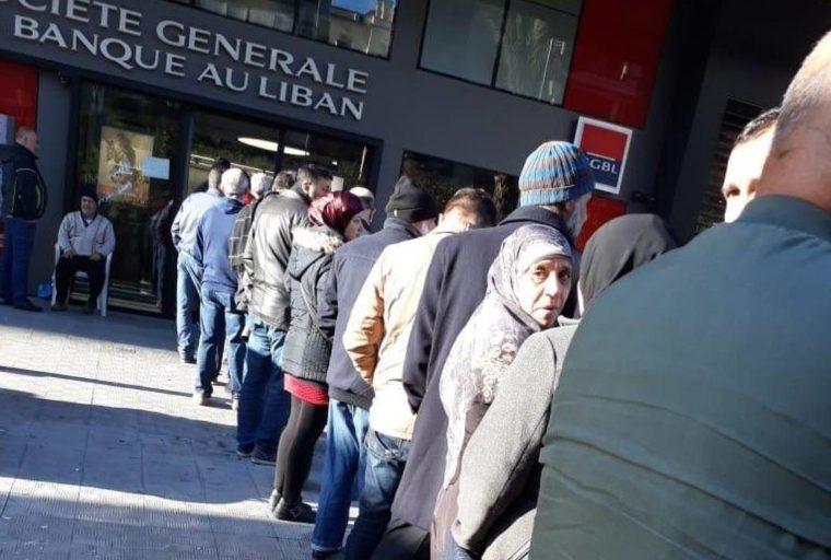 Cierres bancarios y restricciones de retiro Ira ciudadanos libaneses