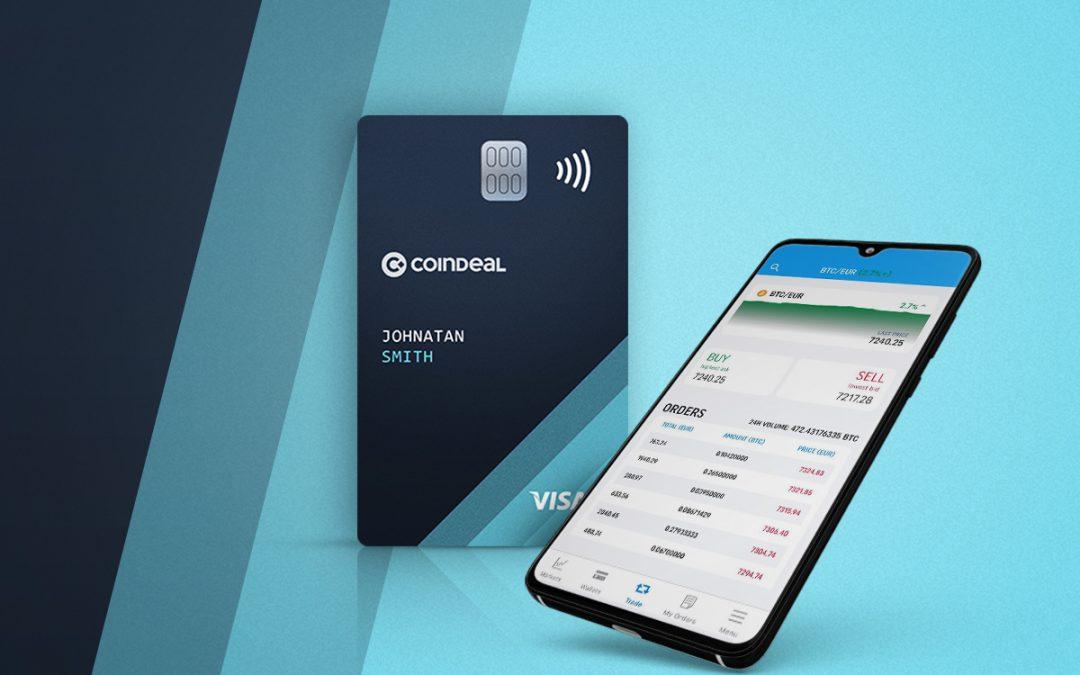 CoinDeal lanza tarjeta de débito criptográfica con grandes beneficios