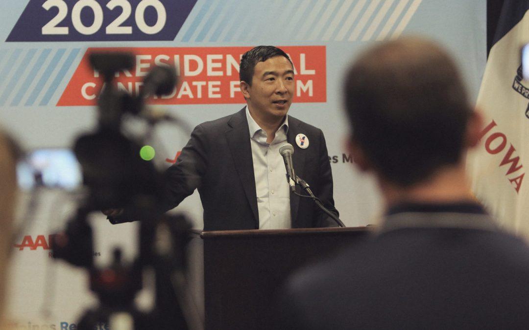 El defensor de criptomonedas Andrew Yang termina su campaña presidencial