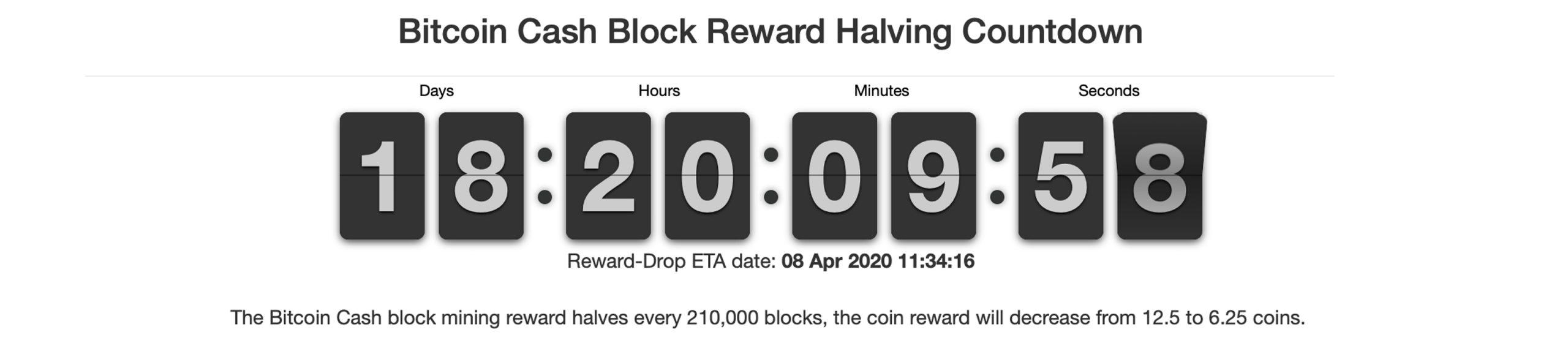 Reducir a la mitad la cuenta regresiva de bitcoin