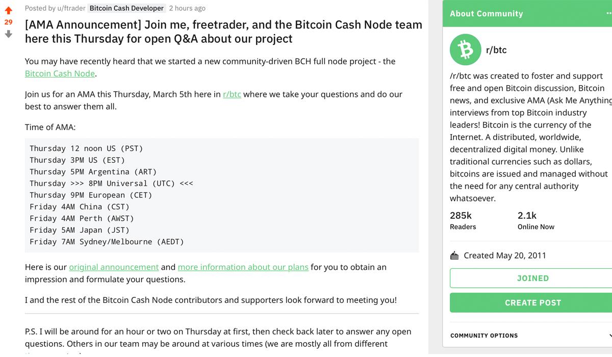 """El nodo de efectivo de Bitcoin revela planes de actualización para mayo y la investigación de algoritmos de dificultad """"width ="""" 1200 """"height ="""" 700 """"srcset ="""" https: // news .bitcoin.com / wp-content / uploads / 2020/03 / ftrader.jpg 1200w, https://news.bitcoin.com/wp-content/uploads/2020/03/ftrader-300x175.jpg 300w, https: / /news.bitcoin.com/wp-content/uploads/2020/03/ftrader-1024x597.jpg 1024w, https://news.bitcoin.com/wp-content/uploads/2020/03/ftrader-768x448.jpg 768w , https://news.bitcoin.com/wp-content/uploads/2020/03/ftrader-696x406.jpg 696w, https://news.bitcoin.com/wp-content/uploads/2020/03/ftrader- 1068x623.jpg 1068w, https: // noticias. bitcoin.com/wp-content/uploads/2020/03/ftrader-720x420.jpg 720w """"tamaños ="""" (ancho máximo: 1200px) 100vw, 1200px"""