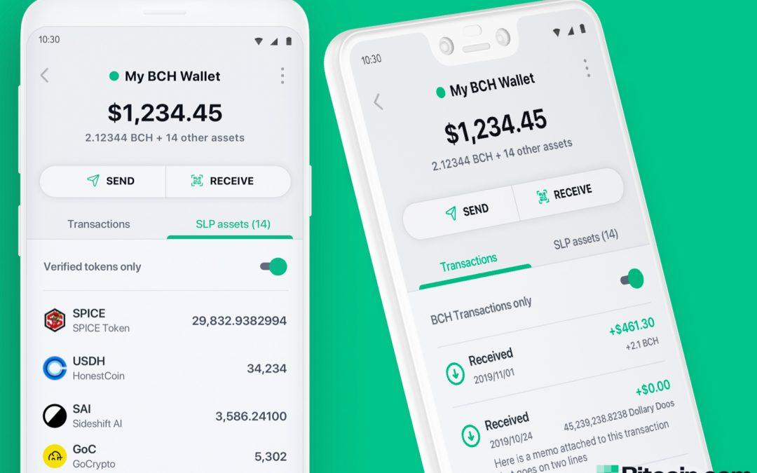 La última versión de la billetera de Bitcoin.com presenta gráficos en vivo y seguimiento de precios