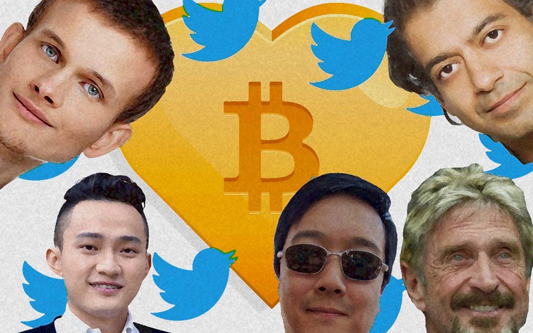 Los 35 Bitcoiners más influyentes que dominan Crypto Twitter por cuenta de seguidores