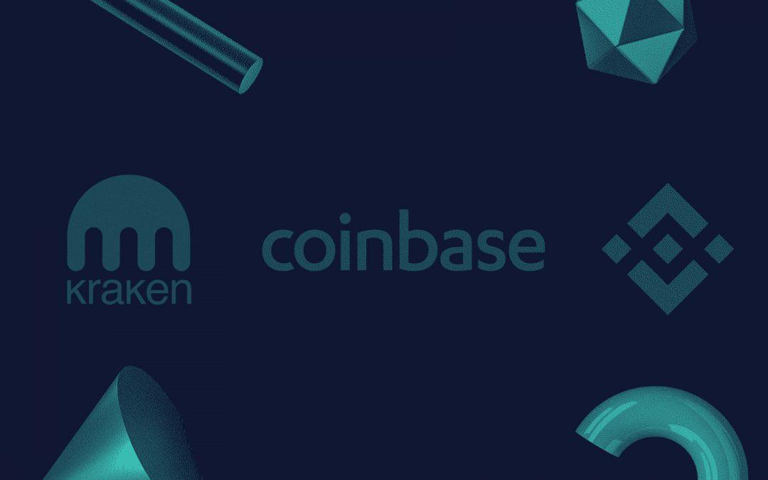 """Evaluación de los intercambios de apuestas de los """"3 grandes"""": Coinbase, Binance y Kraken"""