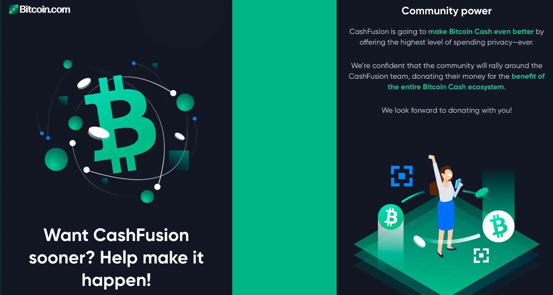 "El Cashfusion Fund de Bitcoin.com supera el objetivo: $ 100K recaudados para la privacidad de Bitcoin Cash ""width ="" 1500 ""height ="" 800 ""srcset ="" https://news.bitcoin.com/wp-content/uploads/2020/04/ cashfusion101.jpg 1500w, https://news.bitcoin.com/wp-content/uploads/2020/04/cashfusion101-300x160.jpg 300w, https://news.bitcoin.com/wp-content/uploads/2020/ 04 / cashfusion101-1024x546.jpg 1024w, https://news.bitcoin.com/wp-content/uploads/2020/04/cashfusion101-768x410.jpg 768w, https://news.bitcoin.com/wp-content/ uploads / 2020/04 / cashfusion101-696x371.jpg 696w, https://news.bitcoin.com/wp-content/uploads/2020/04/cashfusion101-1392x742.jpg 1392w, https://news.bitcoin.com/ wp-content / uploads / 2020/04 / cashfusion101-1068x570.jpg 1068w, https://news.bitcoin.com/wp-con tienda / uploads / 2020/04 / cashfusion101-788x420.jpg 788w ""tamaños ="" (ancho máximo: 1500px) 100vw, 1500px"