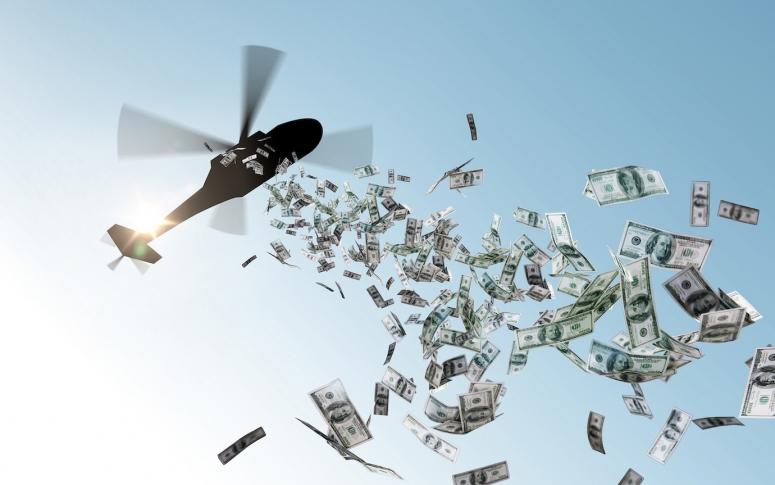 dinero en helicóptero