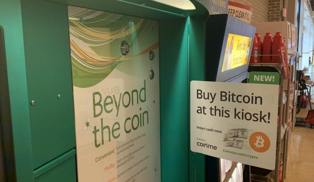 Coinstar planea una expansión masiva de los cajeros automáticos de Coinme Bitcoin como picos de uso