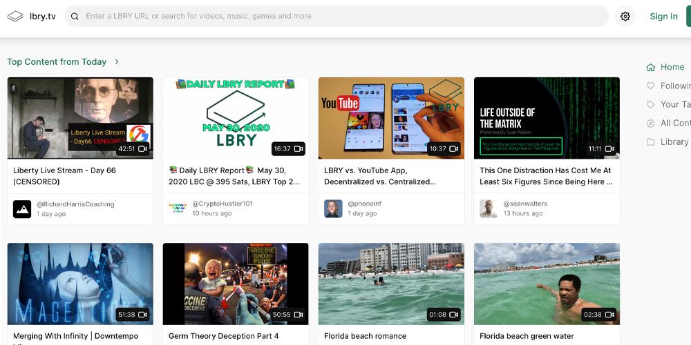 En medio de la censura masiva, las personas acuden a aplicaciones de intercambio de videos descentralizadas como Lbry.tv