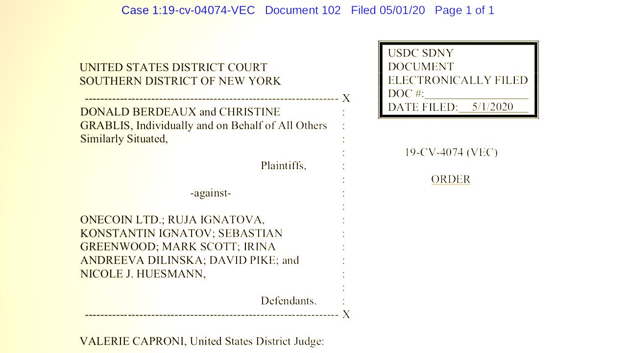 Continúa la demanda de Onecoin: el juez levanta la orden de suspensión, los investigadores buscan' Crypto Queen '