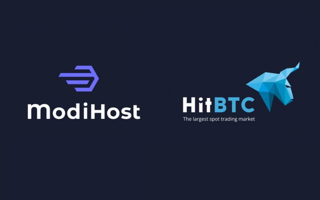 El token de ModiHost está en vivo en HitBTC, el principal intercambio europeo de Bitcoin