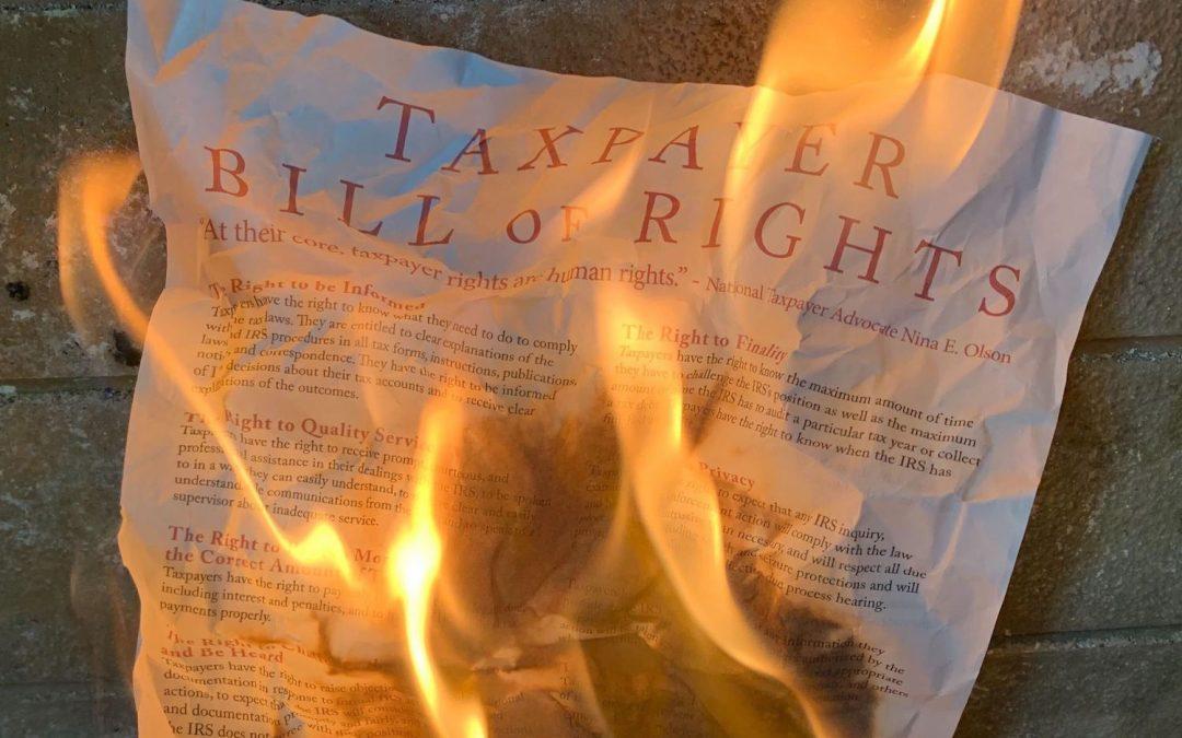 """El IRS violó la """" Declaración de derechos de los contribuyentes '' con cripto cartas de 2019: Watchdog"""