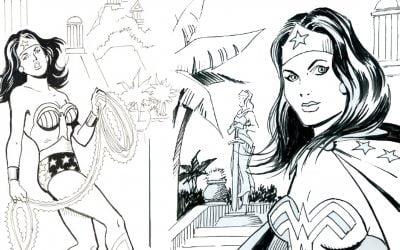El ilustrador y artista británico 'Wonder Woman' Terry Flaxton venderá arte respaldado por Ethereum